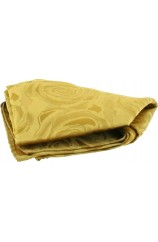 Soprano Gold Rose Mens Silk Pocket Square