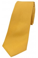 Soprano Gold Satin Silk Thin Tie