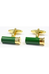 Soprano Green and Gold Shotgun Cartridge Cufflinks