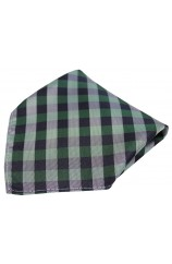 Soprano Green Checked Pattern Silk Pocket Square