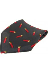 Soprano Green Shotgun Cartridge Silk Pocket Square