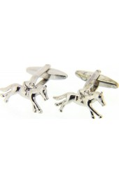 Soprano Horse and Jockey Silver Colour Cufflinks