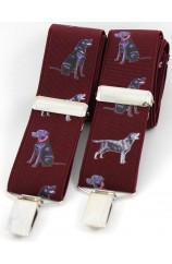 Soprano Labrador Wine 35mm X Style Braces