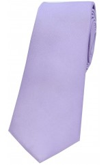 Soprano Light Lilac Satin Silk Thin Tie