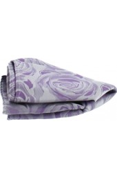 Soprano Lilac Rose Mens Silk Pocket Square