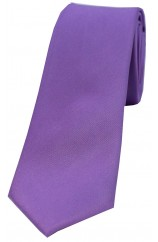 Soprano Lilac Satin Silk Thin Tie