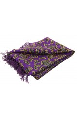 Soprano Morris Paisley On A Purple Ground Silk Aviator Scarf