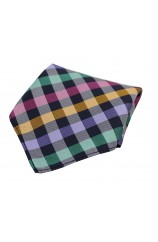 Soprano Multicolour Checked Silk Pocket Square