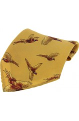 Soprano Mustard Flying Pheasant Pocket Square