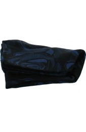 Soprano Navy Rose Mens Silk Pocket Square