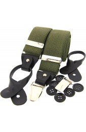 Soprano Olive 35mm Leather End Braces