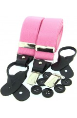 Soprano Pink 35mm Leather End Braces