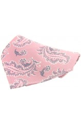 Soprano Pink With Large Paisley Design Silk Pocket Square
