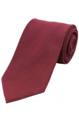 Soprano Plain Burgundy Wool Rich Tie