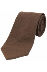 Soprano Plain Chocolate Brown Wool Rich Tie