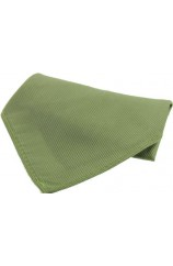 Soprano Plain Country Green Diagonal Twill Mens Silk Pocket Square