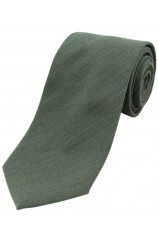 Soprano Plain Country Green Wool Rich Tie