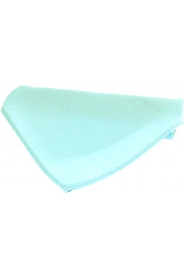 Soprano Plain Cyan Fine Twill Mens Silk Pocket Square