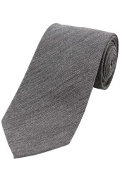 Soprano Plain Grey Wool Rich Tie