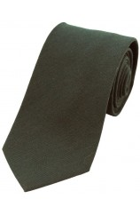 Soprano Plain Moss Green Wool Rich Tie