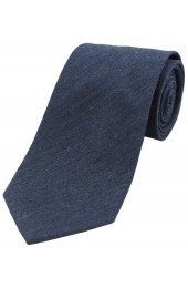Soprano Plain Navy Wool Rich Tie