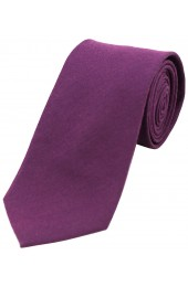 Soprano Plain Purple Wool Rich Tie