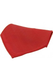 Soprano Plain Red Diagonal Twill Mens Silk Pocket Square