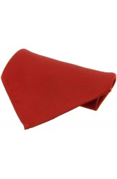 Soprano Plain Red Satin Silk Mens Pocket Square