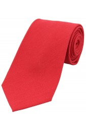 Soprano Plain Red Wool Rich Tie
