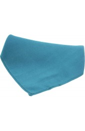 Soprano Plain Teal Satin Silk Mens Silk Pocket Square