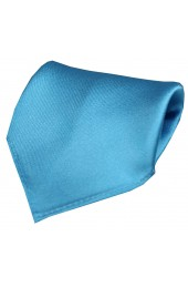 Soprano Plain Turquoise Satin Silk Mens Pocket Square