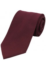 Soprano Plain Wine Wool Rich Tie