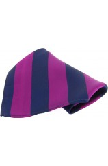 Soprano Purple and Navy Bold Stripe Mens Pocket Square