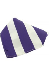 Soprano Purple And White Striped Polyester Pocket Square