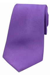 Soprano Purple Satin Silk Tie