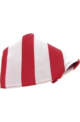 Soprano Red and White Bold Stripe Mens Silk Pocket Square