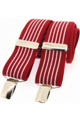 Soprano Red and White Striped 35mm X Style Braces