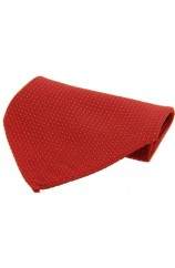 Soprano Red Box Weave Pin Dots Mens Silk Pocket Square