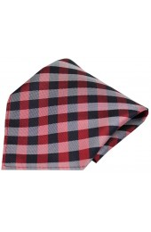 Soprano Red Checked Pattern Silk Pocket Square