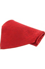 Soprano Red Leaf Patterned Silk Pocket Square