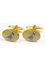 Soprano Red Legged Country Partridge Cufflinks