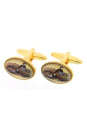 Soprano Red Legged Partridge Country Cufflinks