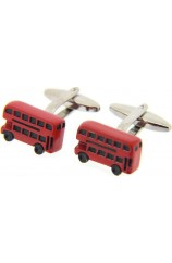 Soprano Red London Bus Cufflinks