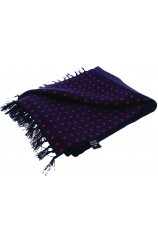 Soprano Red Polka Dot On A Navy Ground Silk Aviator Scarf
