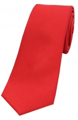 Soprano Red Satin Silk Thin Tie