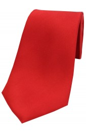 Soprano Red Satin Silk Tie
