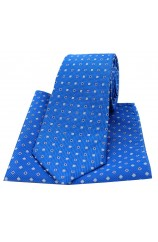Soprano Royal Small Squares Silk Tie and Pocket Square