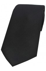 Soprano Satin Black Silk Tie