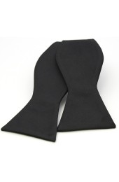 Soprano Satin Silk Black Luxury Self Tied Bow Tie