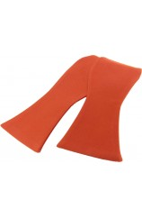 Soprano Satin Silk Burnt Orange Luxury Self Tied Bow Tie